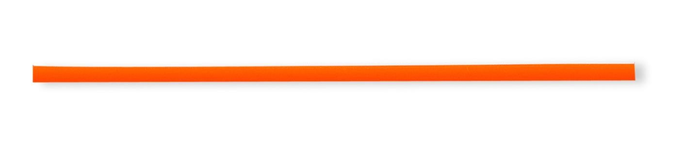 16 inch 2mm Tangerine Rubber Cord in Sterling Silver