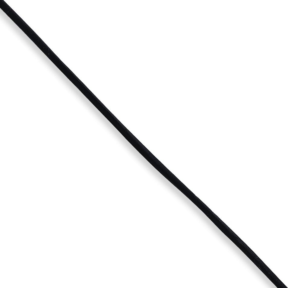 16 inch 2mm Black Leather Cord in Sterling Silver