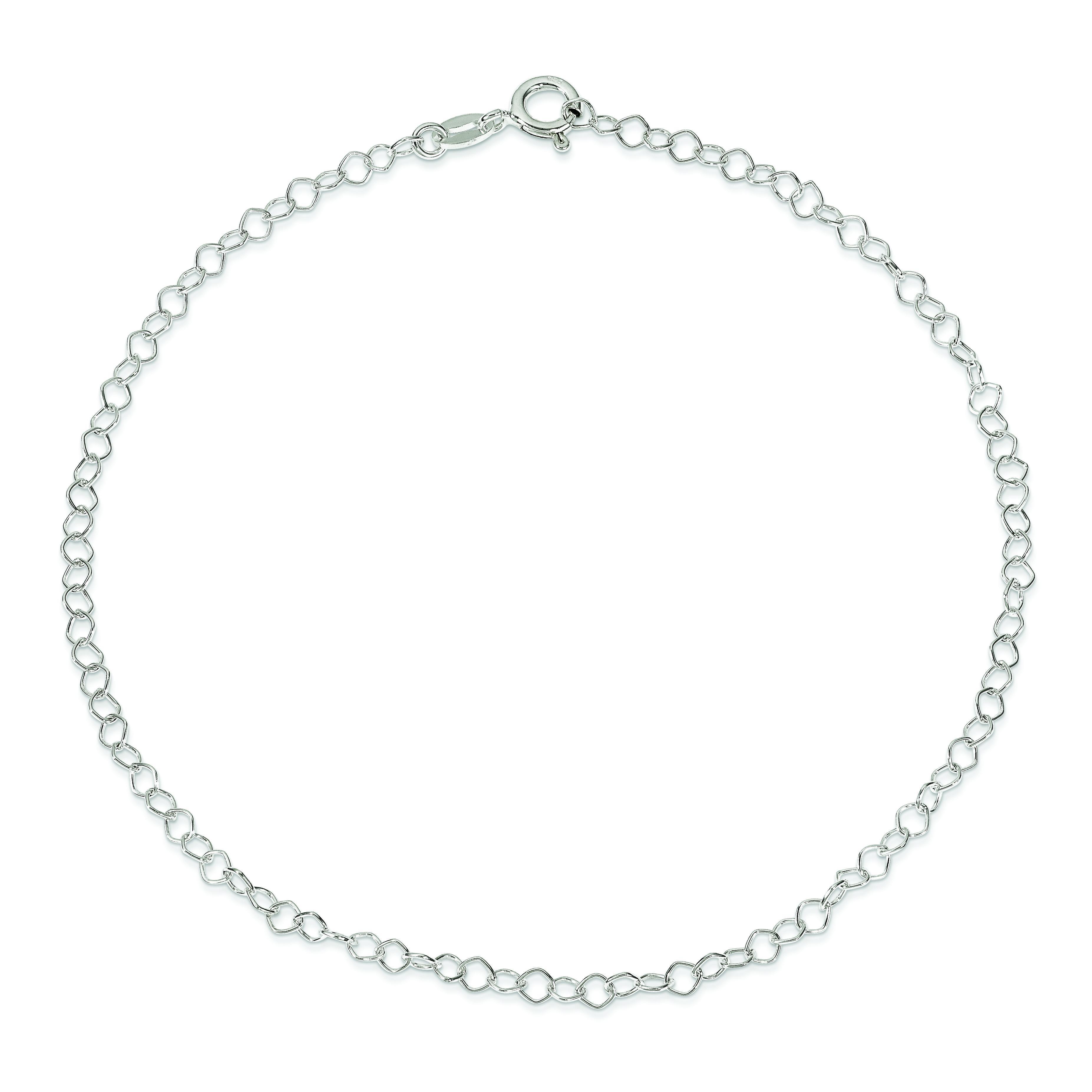 Fancy Anklet in Sterling Silver
