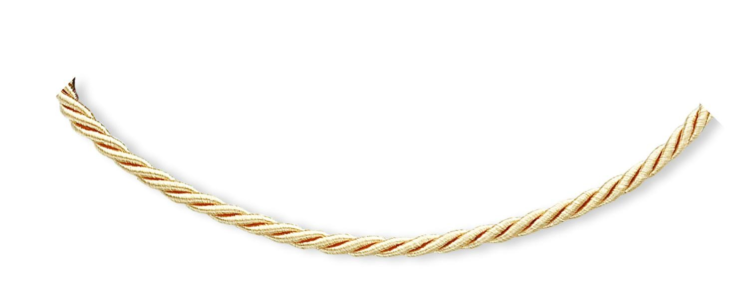 18 inch Beige Satin Cord in Sterling Silver