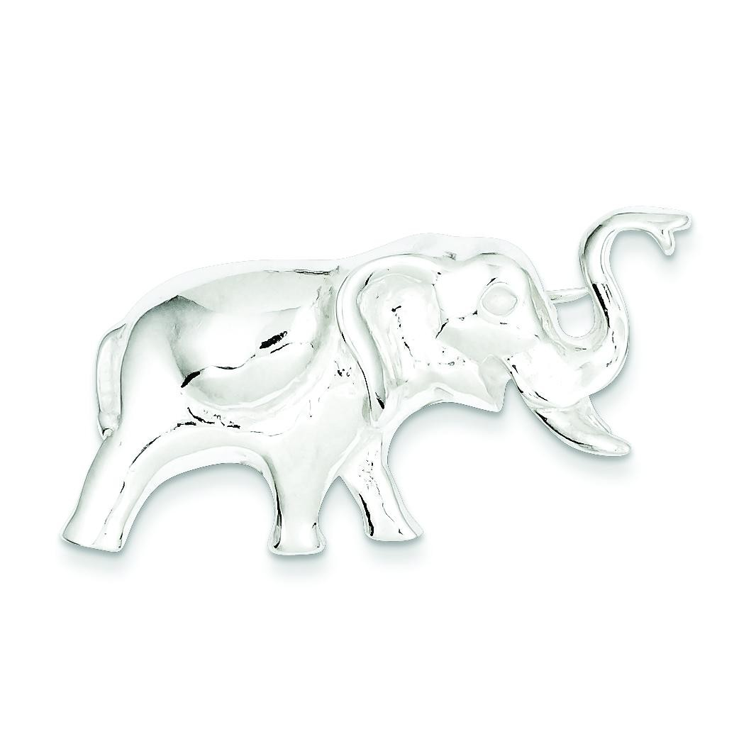 Elephant Pin in Sterling Silver
