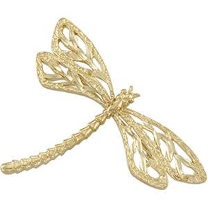 Dragonfly Brooch in 14k Yellow Gold