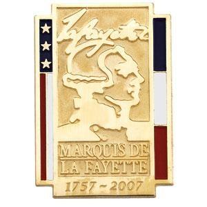 Marquis De La Fayette Commemorative Lapel Pin in