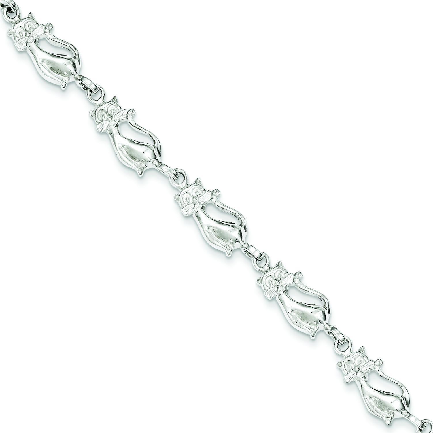 Cats Bracelet in Sterling Silver