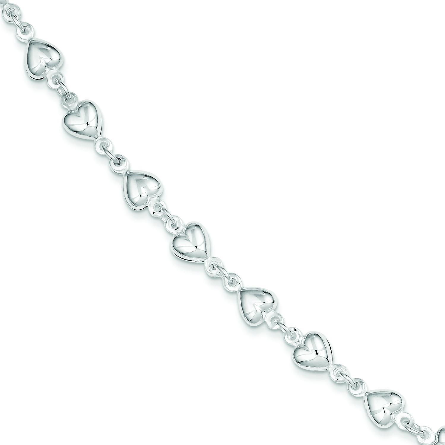 Heart Bracelet in Sterling Silver