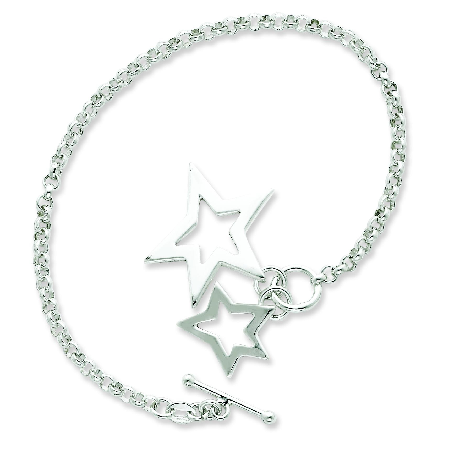 Fancy Stars Bracelet in Sterling Silver