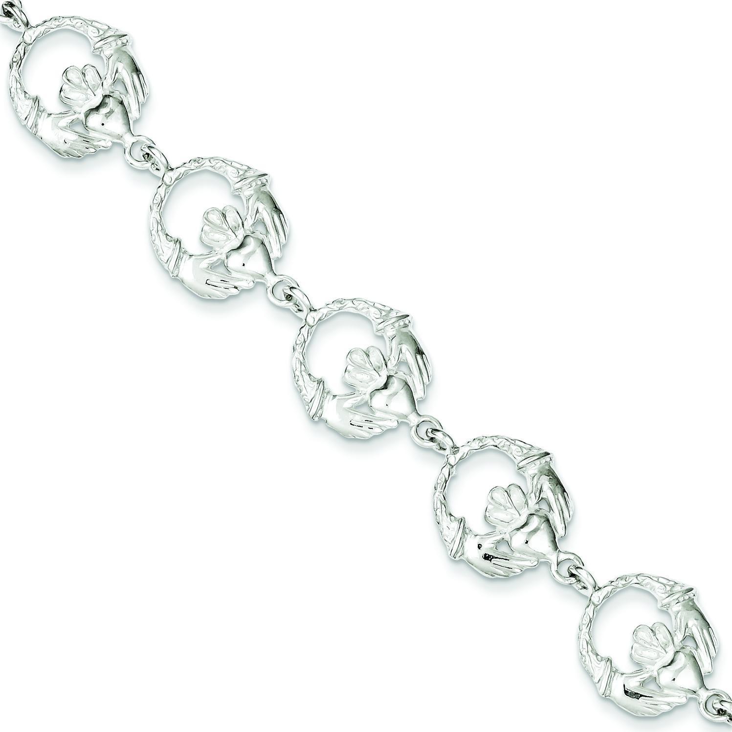 Claddagh Bracelet in Sterling Silver