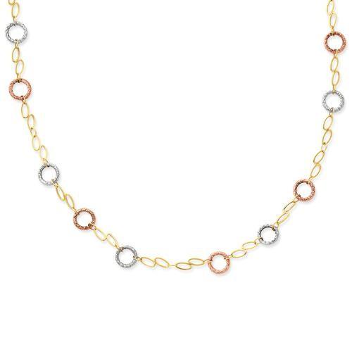 Circles Bracelet in 14k Tri-color Gold