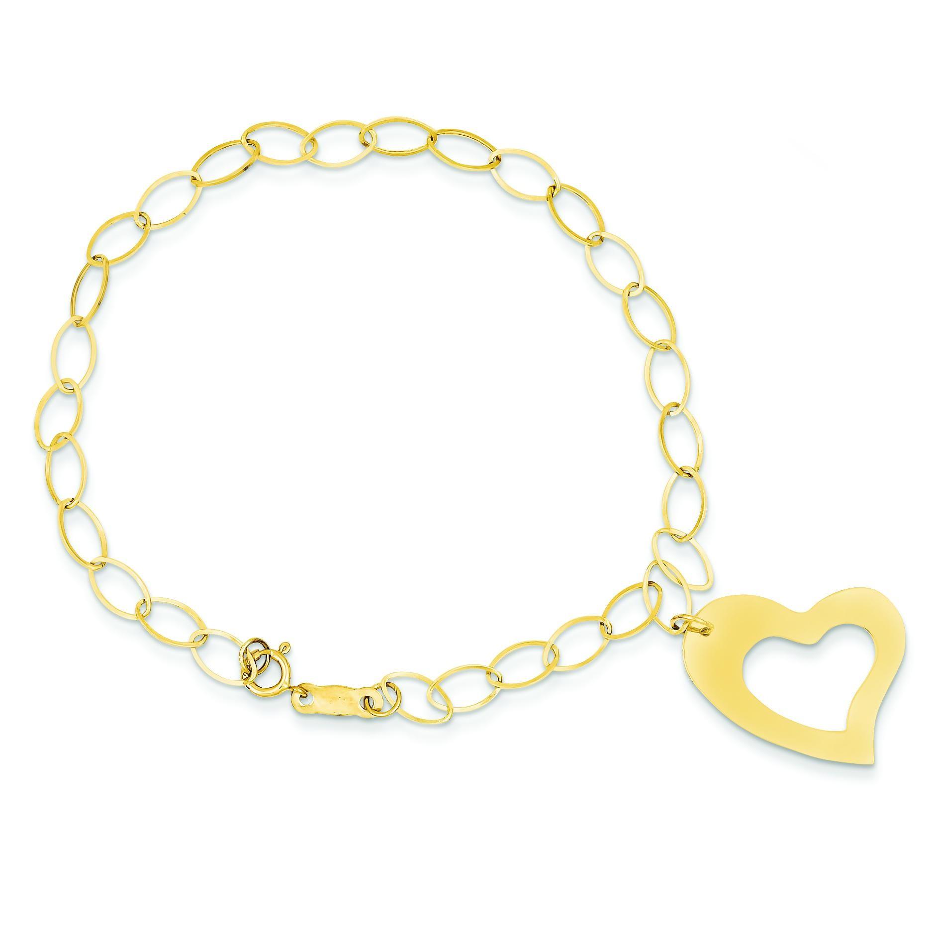 Heart Bracelet in 14k Yellow Gold