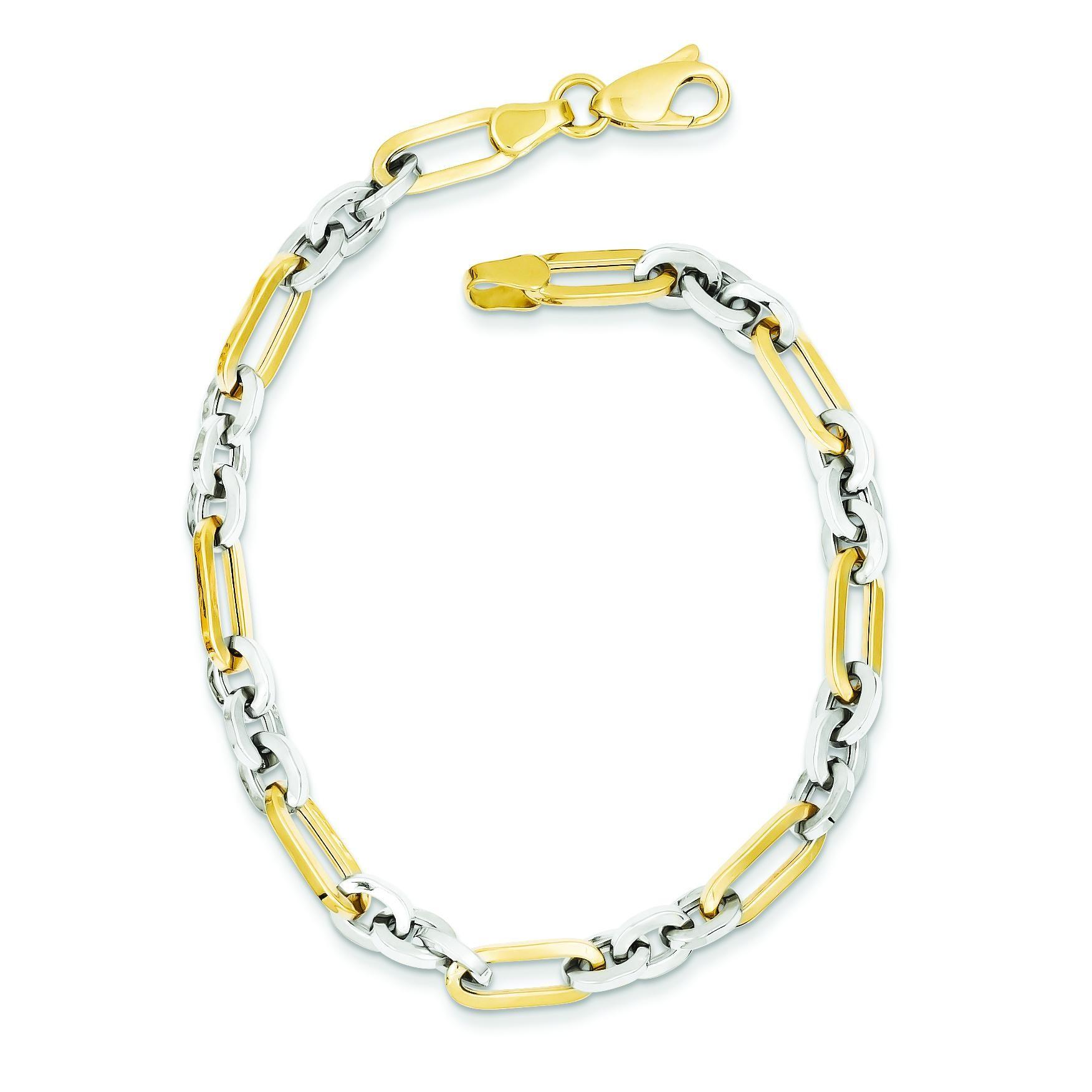 Fancy Link Bracelet in 14k Yellow Gold