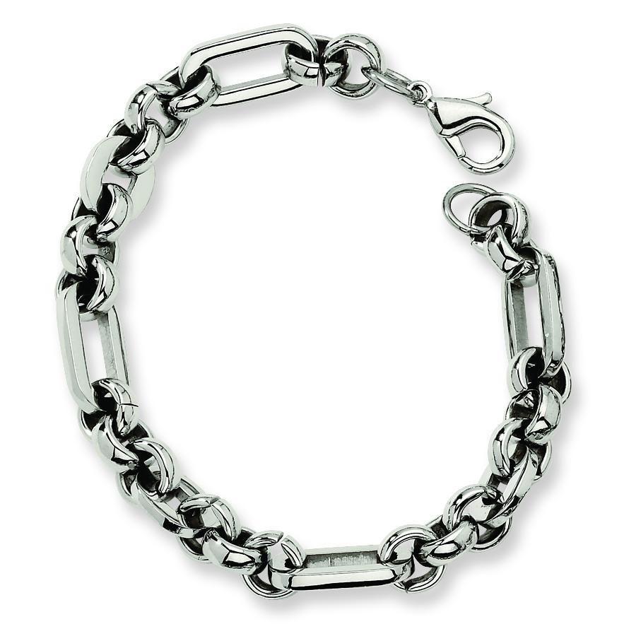 Fancy Link Bracelet in Stainless Steel