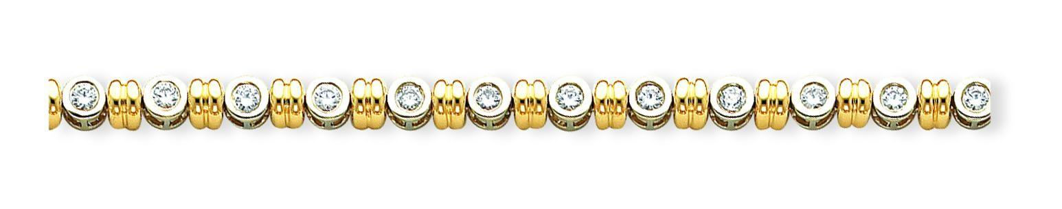 AA Diamond Tennis Bracelet in 14k Two-tone Gold