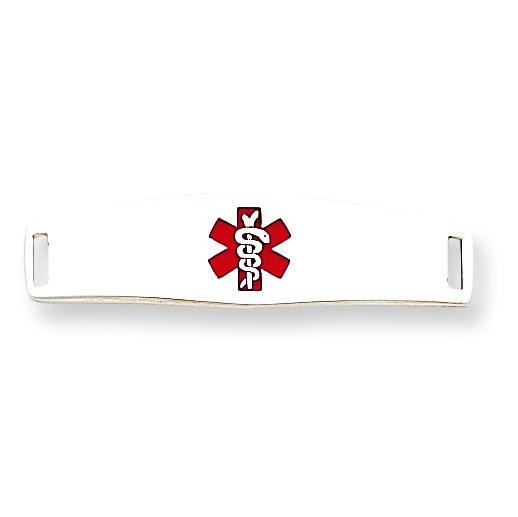 Medical ID Plate in Sterling Silver