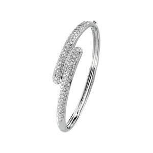 Diamond Bangle Bracelet in 14k White Gold