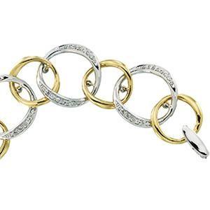 Diamond Bracelet in 14k Two-tone Gold (0.75 Ct. tw.) (0.75 Ct. tw.)