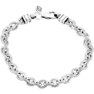 Twisted Cable Link Bracelet in Sterling Silver