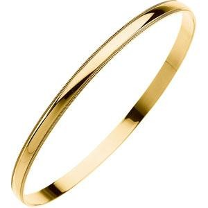 Bangle Bracelet in 14k Yellow Gold