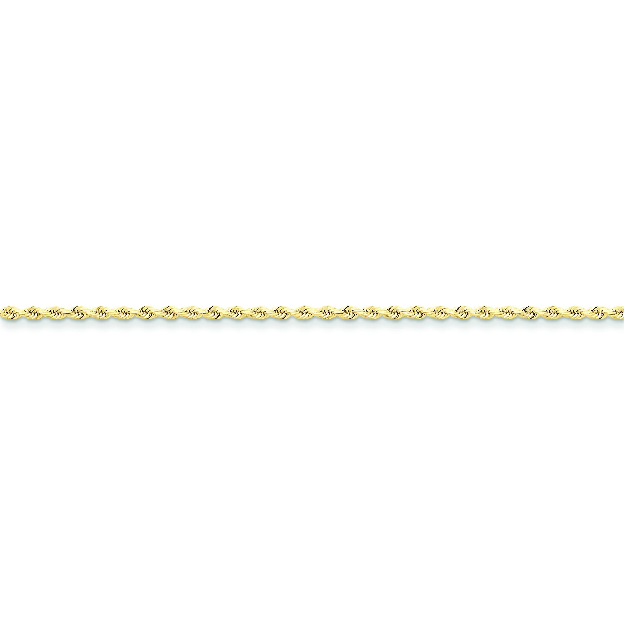 10k Yellow Gold 8 inch 2.00 mm Handmade Rope Chain Bracelet