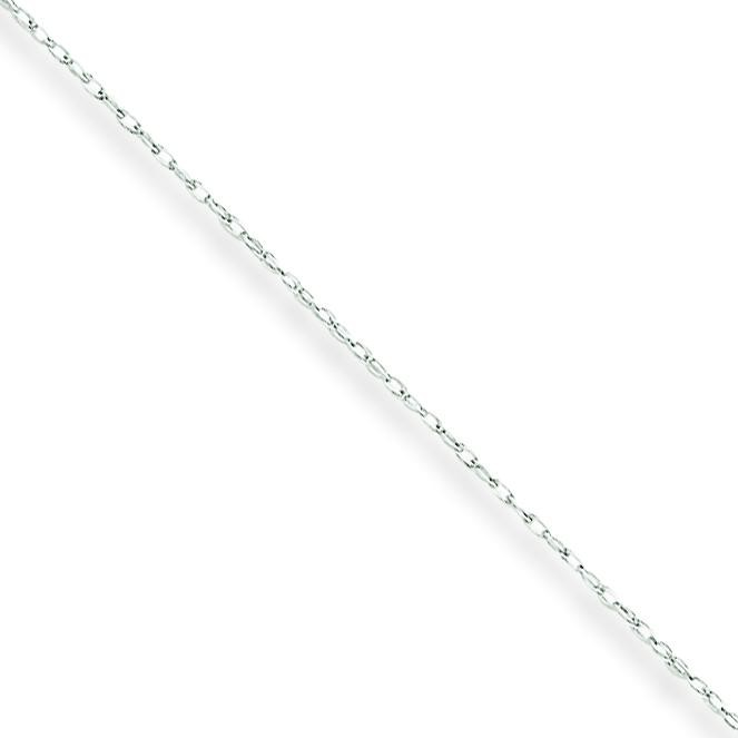 10k White Gold 18 inch 0.50 mm  Rope Collar Necklace
