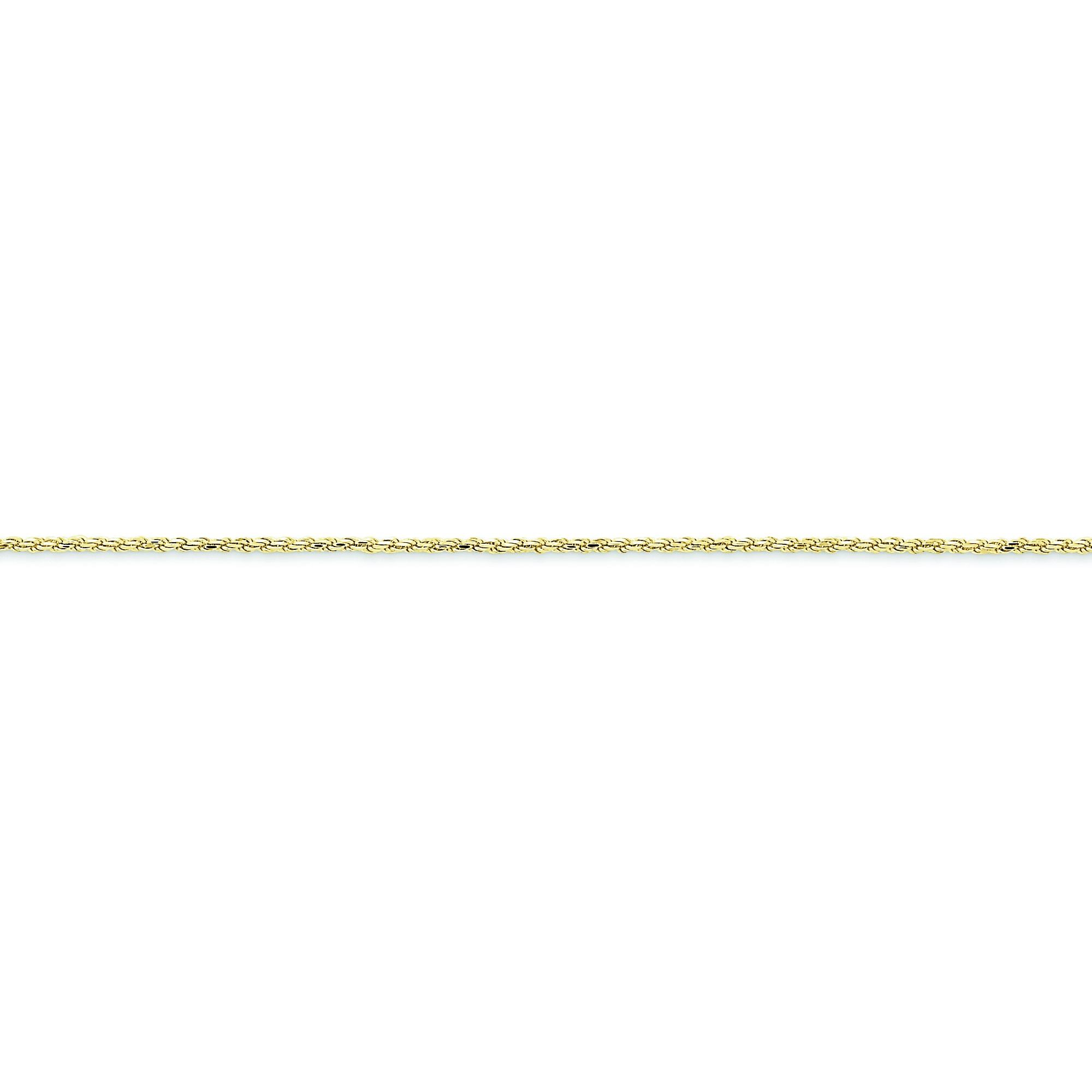 10k Yellow Gold 8 inch 1.50 mm  Rope Chain Bracelet