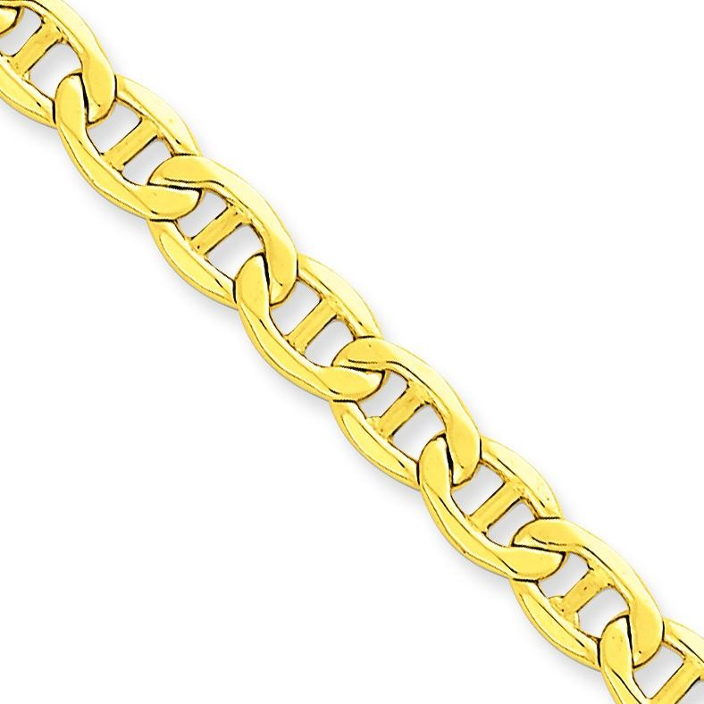 14k Yellow Gold 7 inch 5.85 mm Lightweight Anchor Chain Bracelet