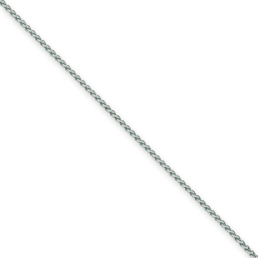 14k White Gold 6 inch 1.80 mm  Spiga Chain Bracelet