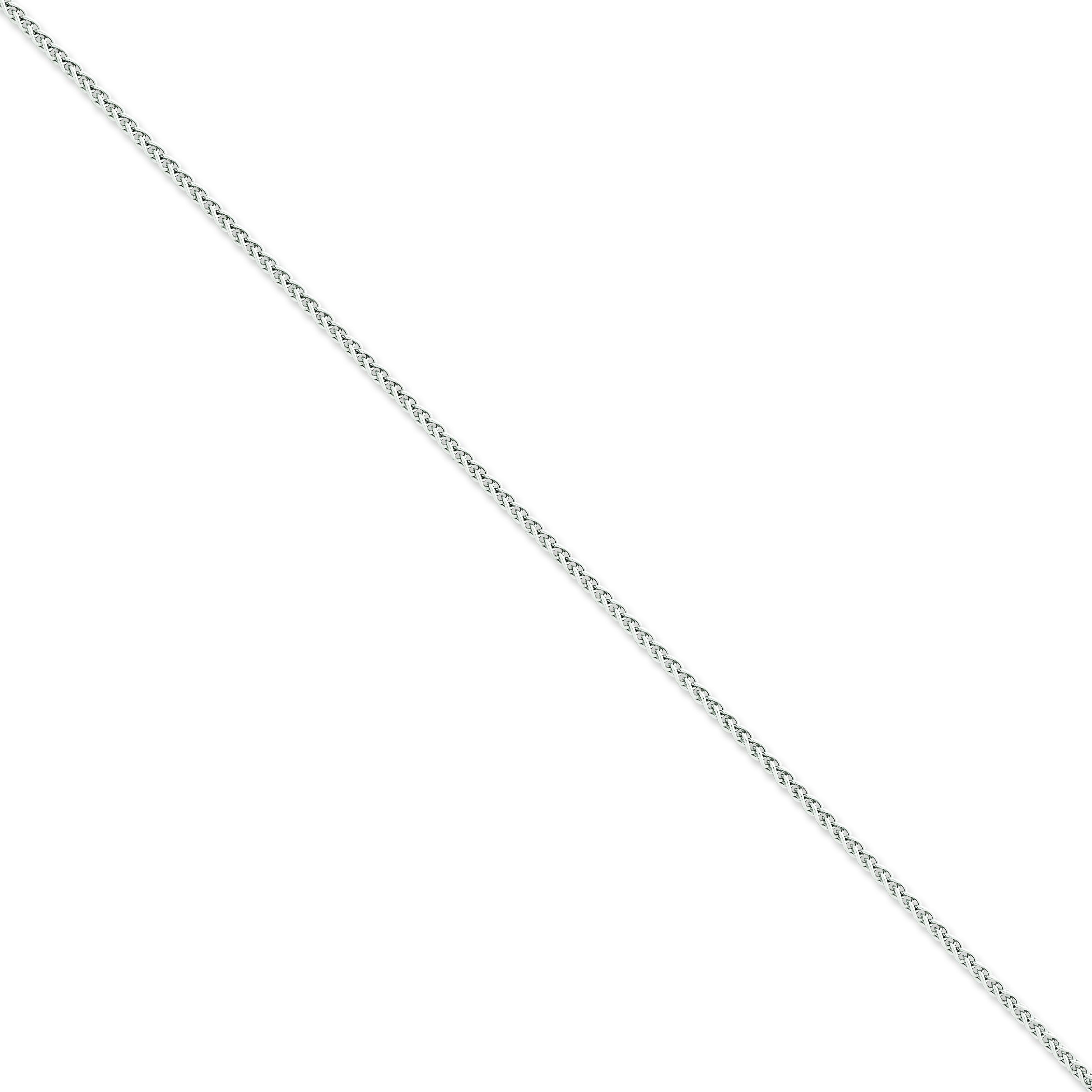 14k White Gold 7 inch 2.25 mm  Spiga Chain Bracelet