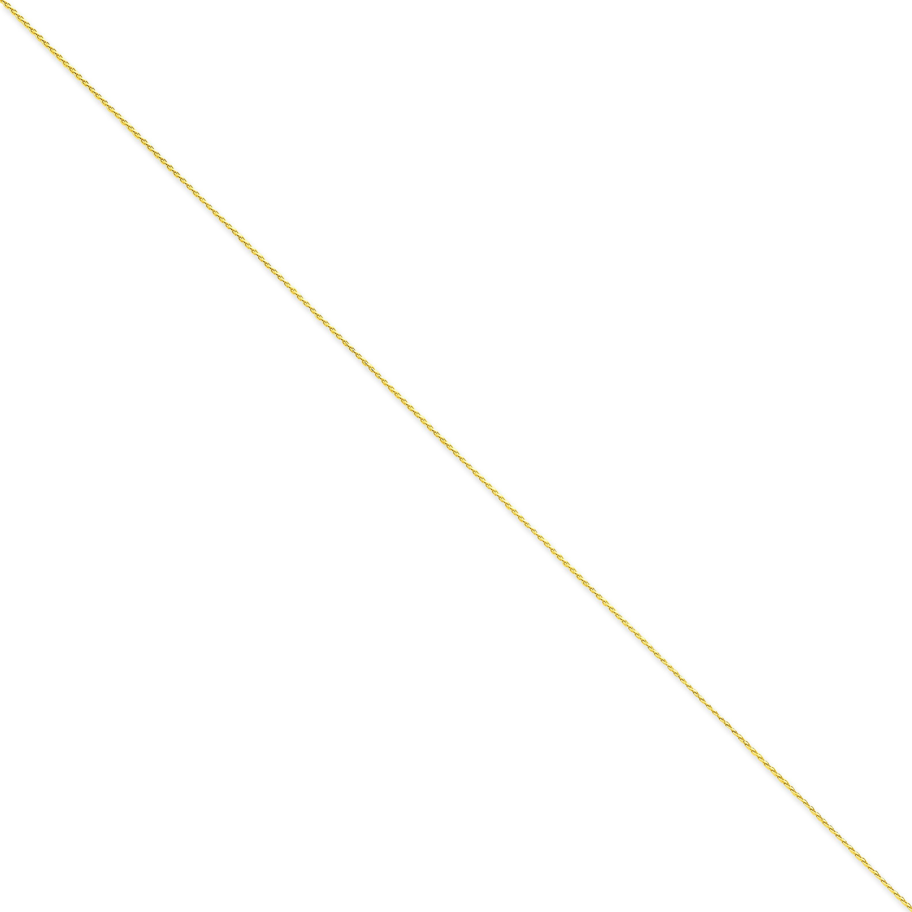 14k Yellow Gold 16 inch 1.00 mm Diamond-cut Spiga Choker Necklace