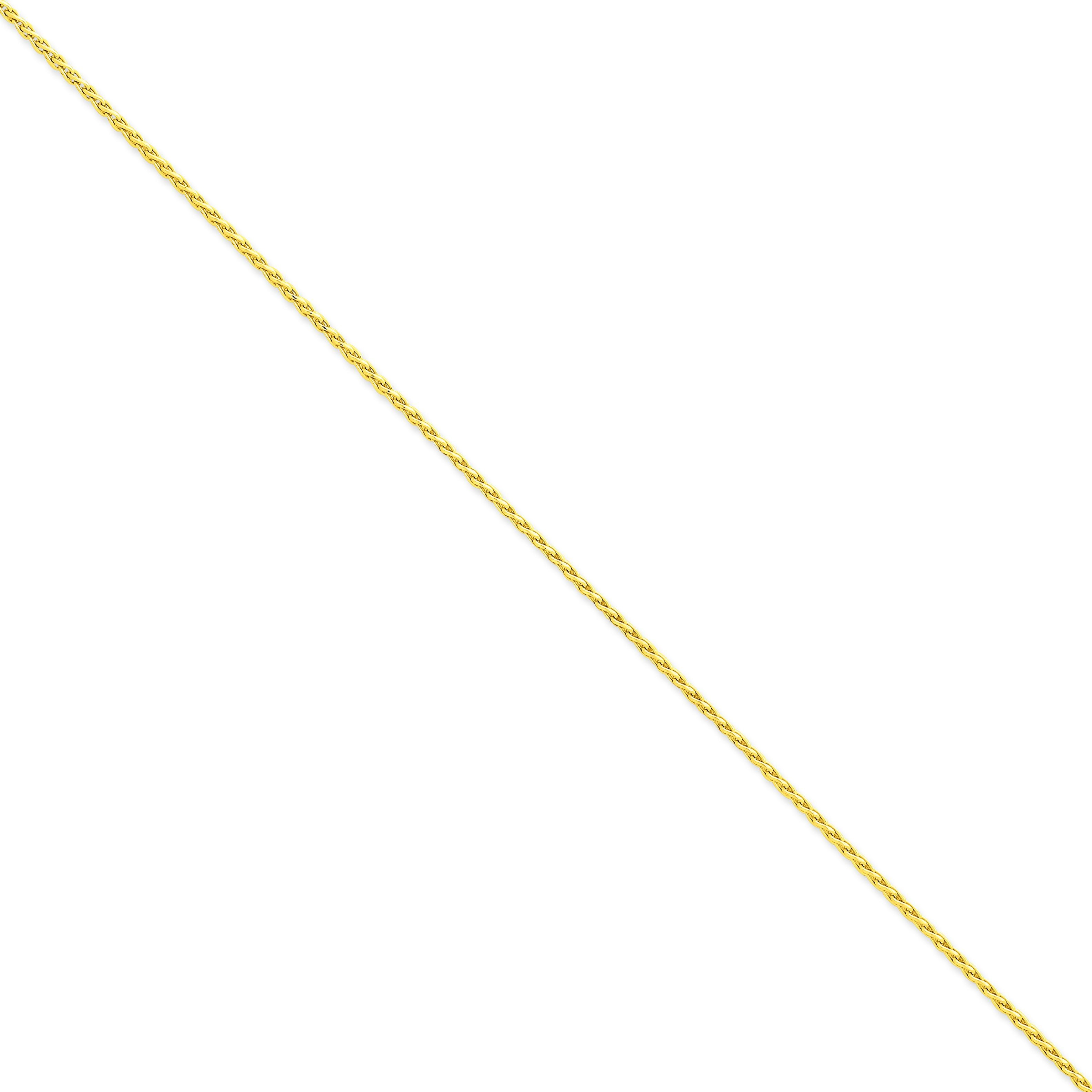 14k Yellow Gold 7 inch 1.80 mm Diamond-cut Spiga Chain Bracelet
