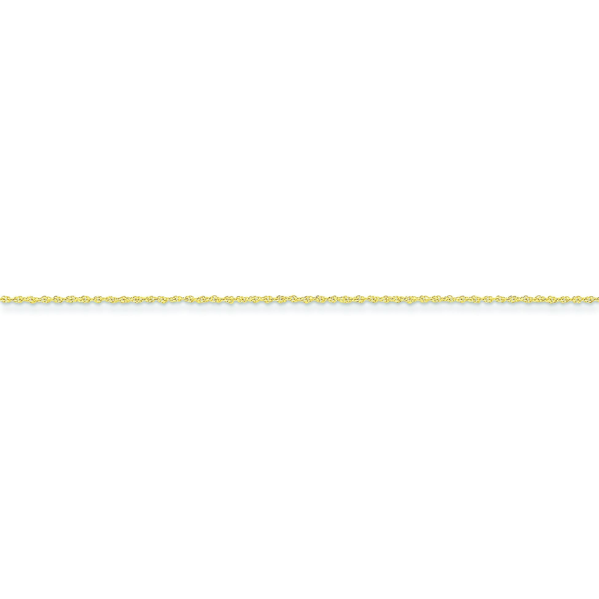 14k Yellow Gold 16 inch 1.10 mm Rope Choker Necklace