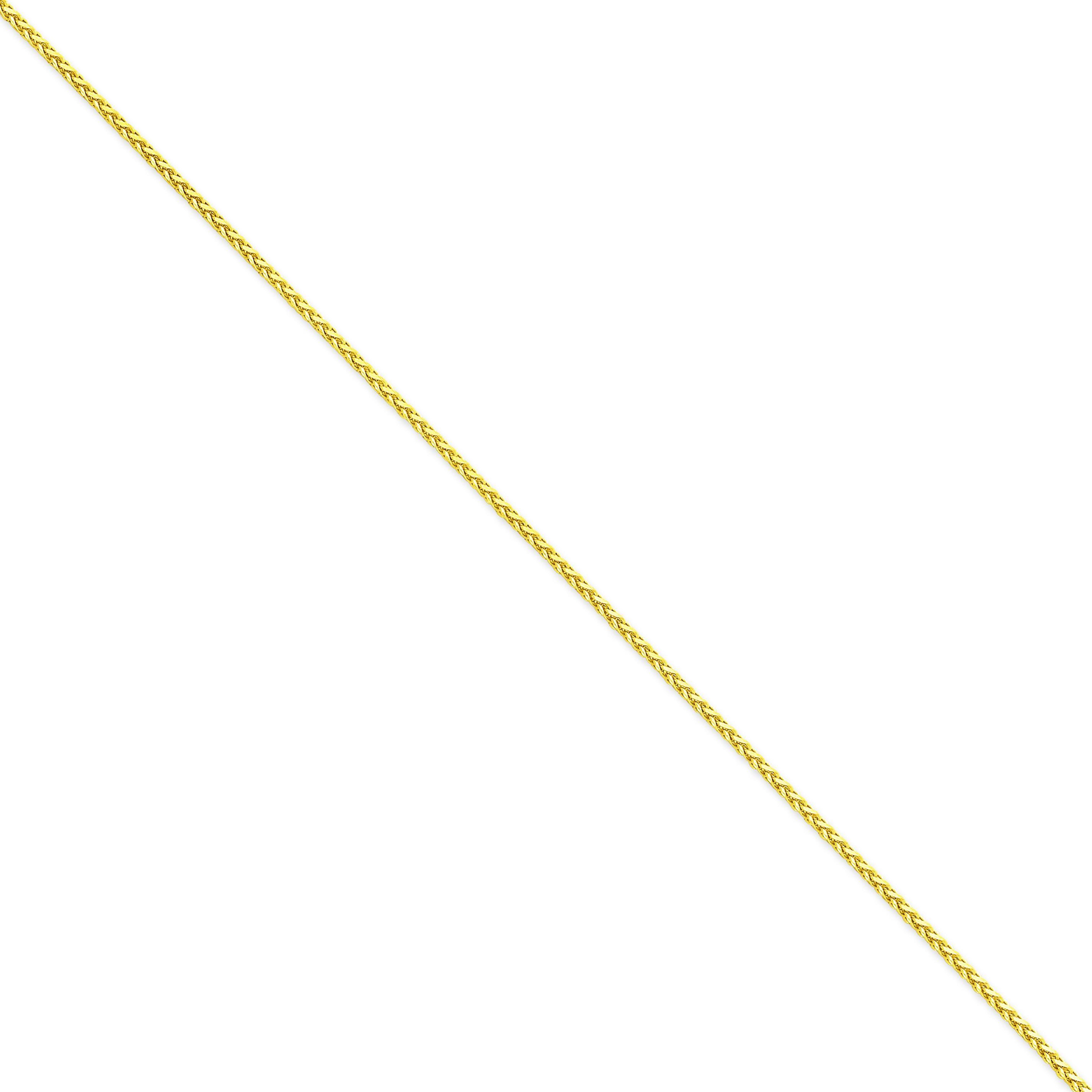 14k Yellow Gold 7 inch 1.90 mm Diamond-cut Parisian Wheat Chain Bracelet