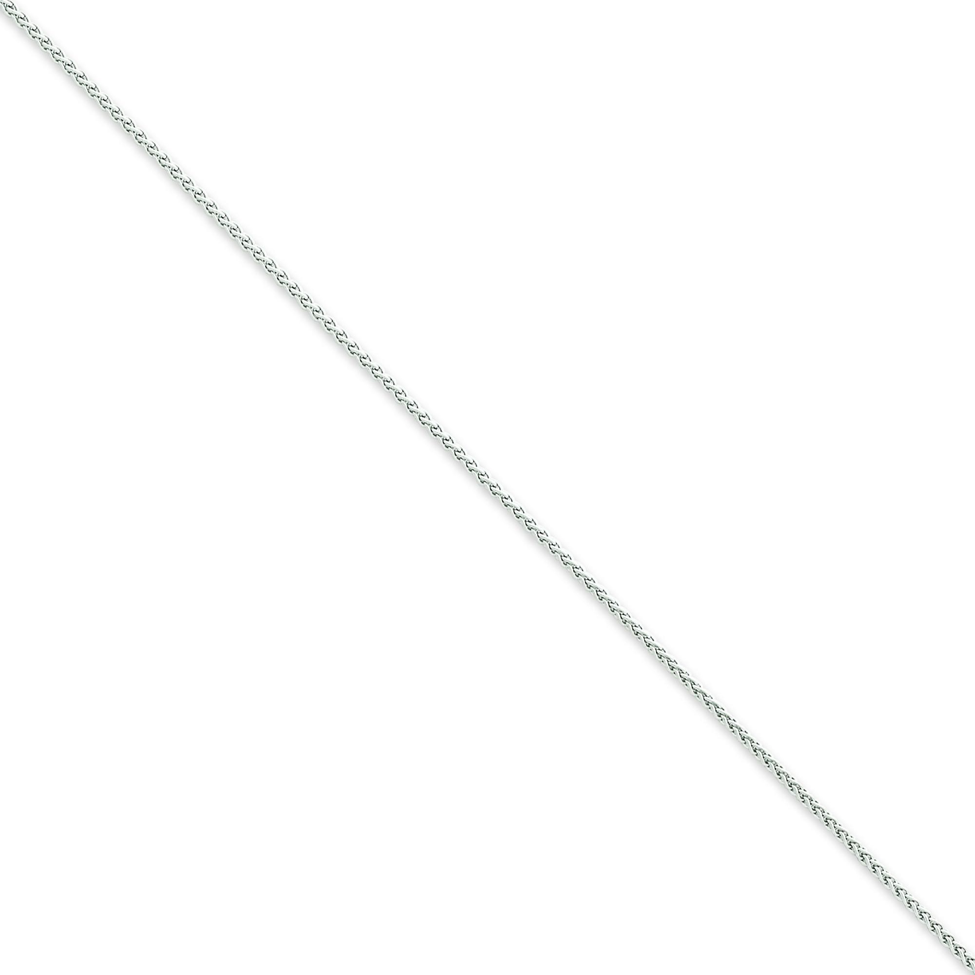 14k White Gold 6 inch 1.25 mm  Spiga Chain Bracelet