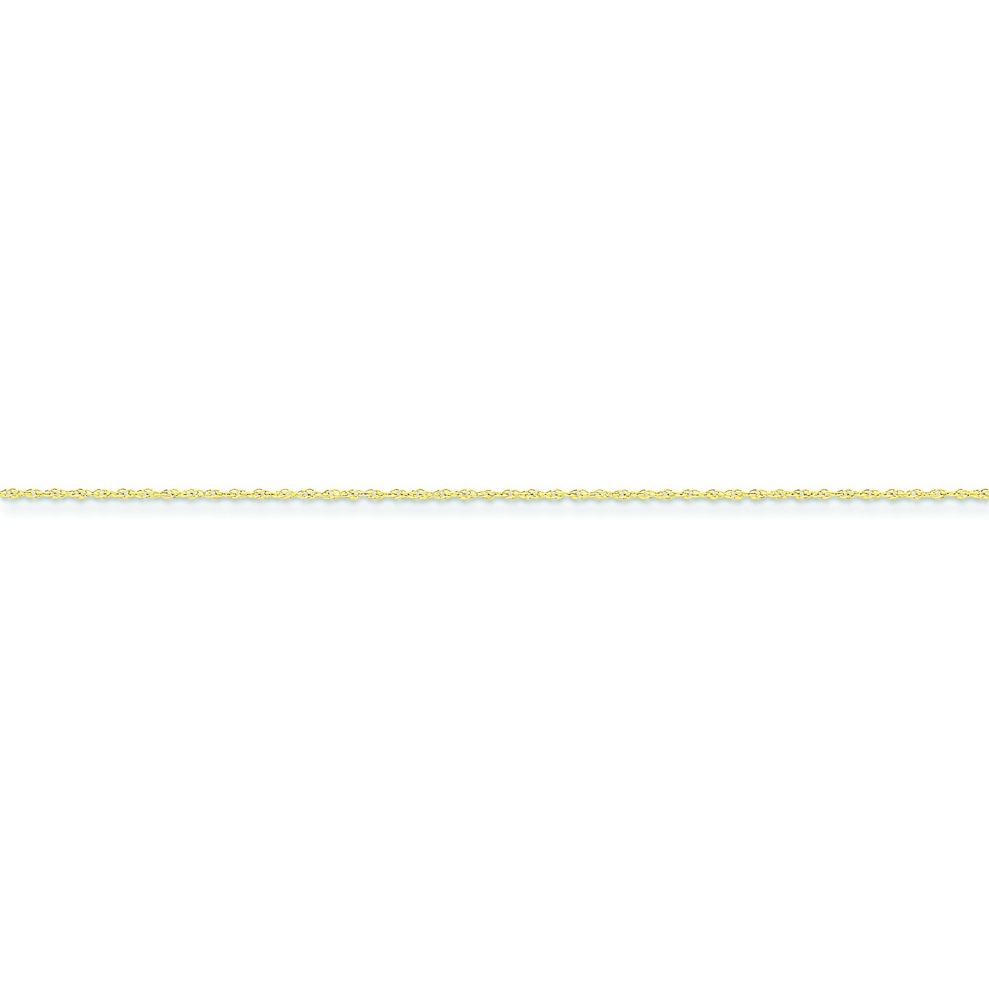 14k Yellow Gold 8 inch 0.80 mm Rope Chain Bracelet