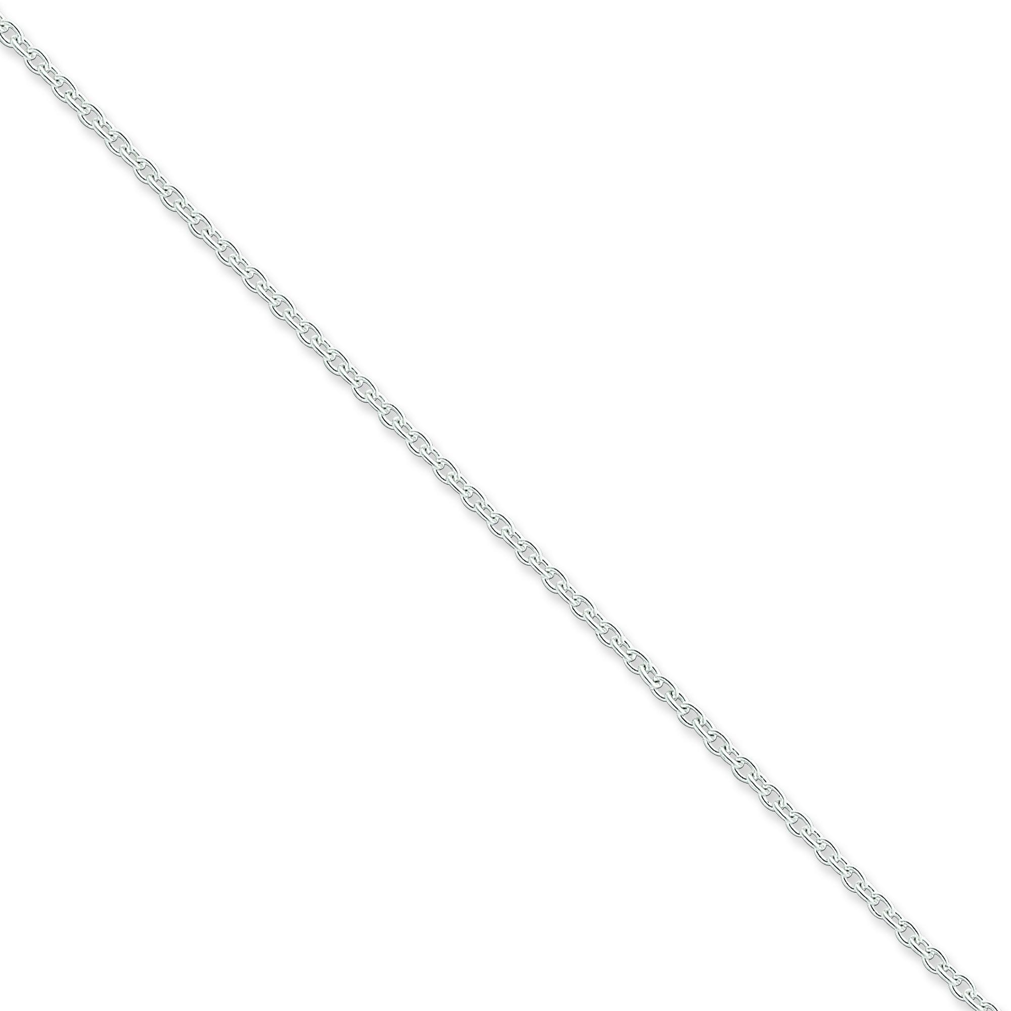 Sterling Silver 7 inch 1.95 mm  Cable Chain Bracelet