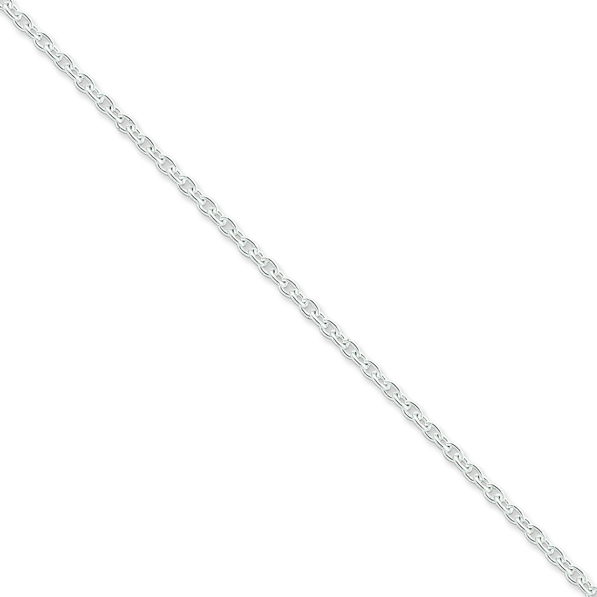 Sterling Silver 7 inch 2.75 mm  Cable Chain Bracelet