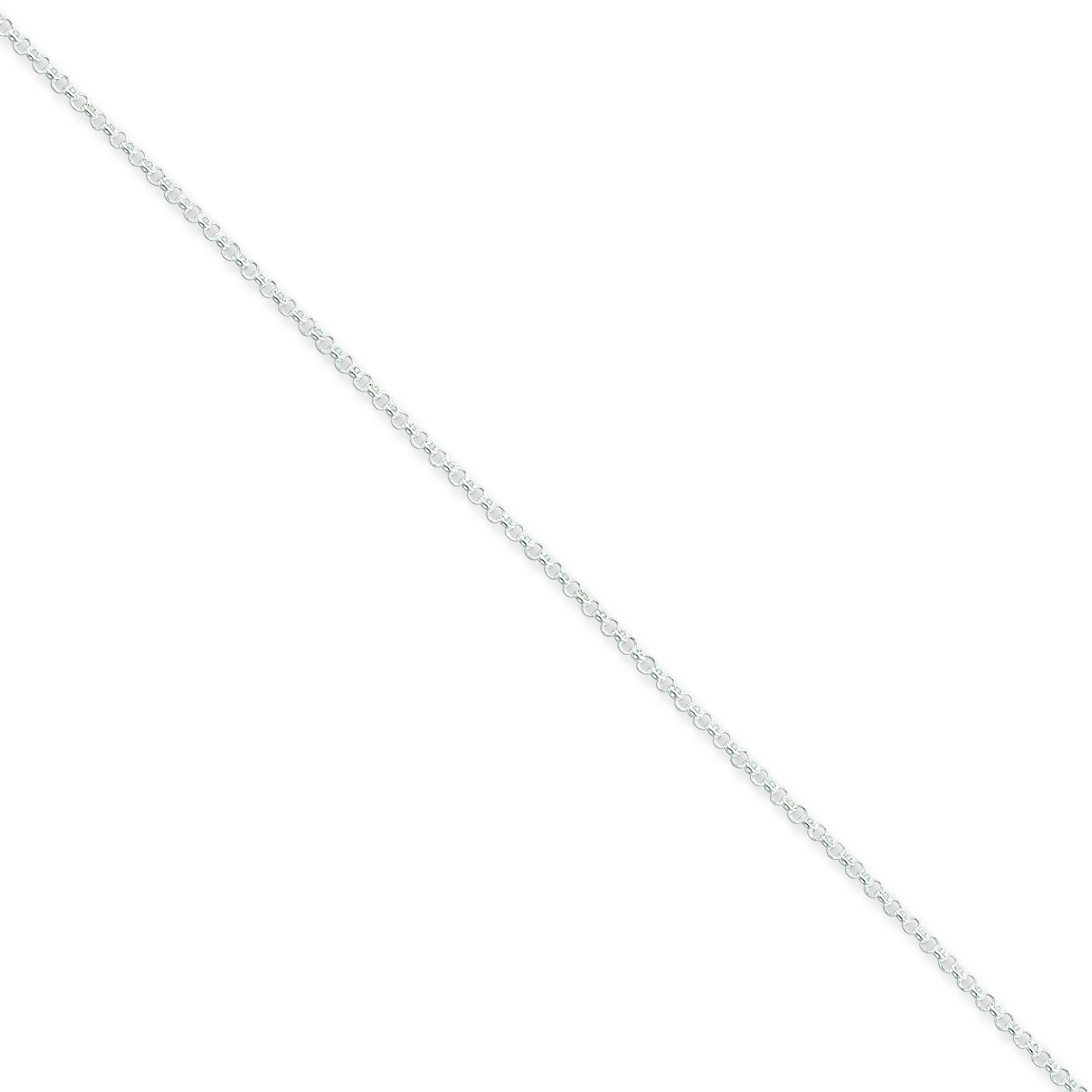 Sterling Silver 16 inch 1.50 mm  Rolo Choker Necklace