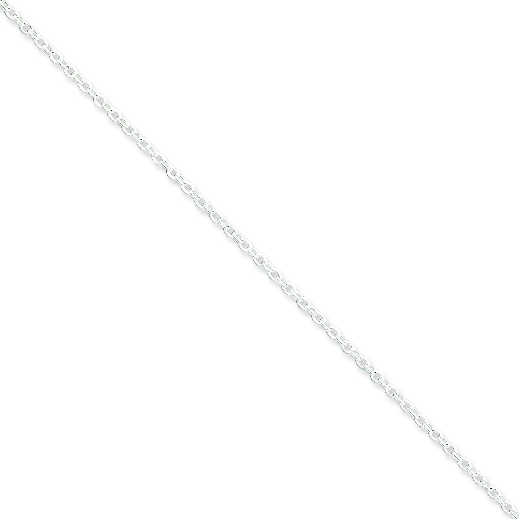 Sterling Silver 18 inch 1.60 mm Long Link Rolo Collar Necklace