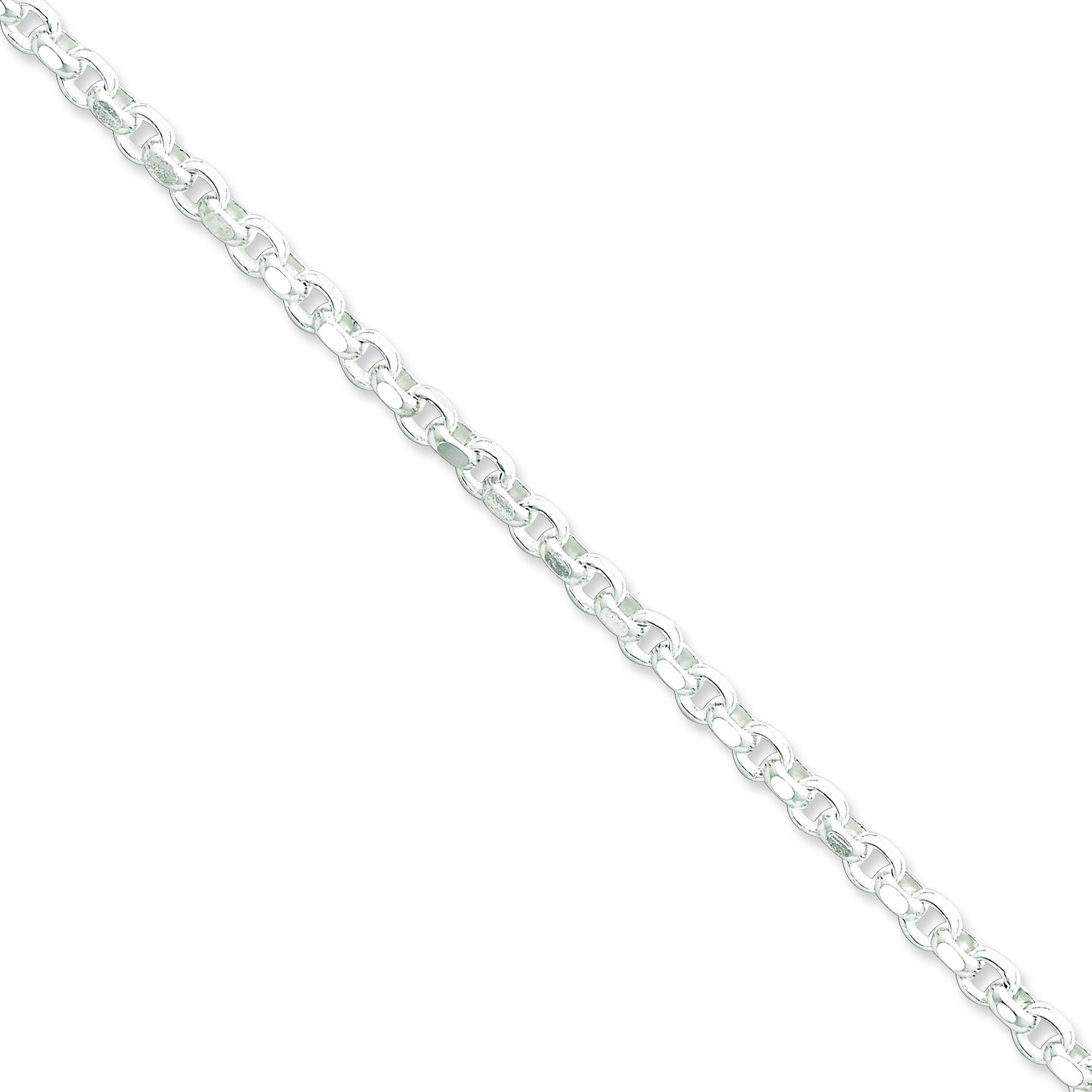 Sterling Silver 7 inch 4.00 mm Rolo Chain Bracelet