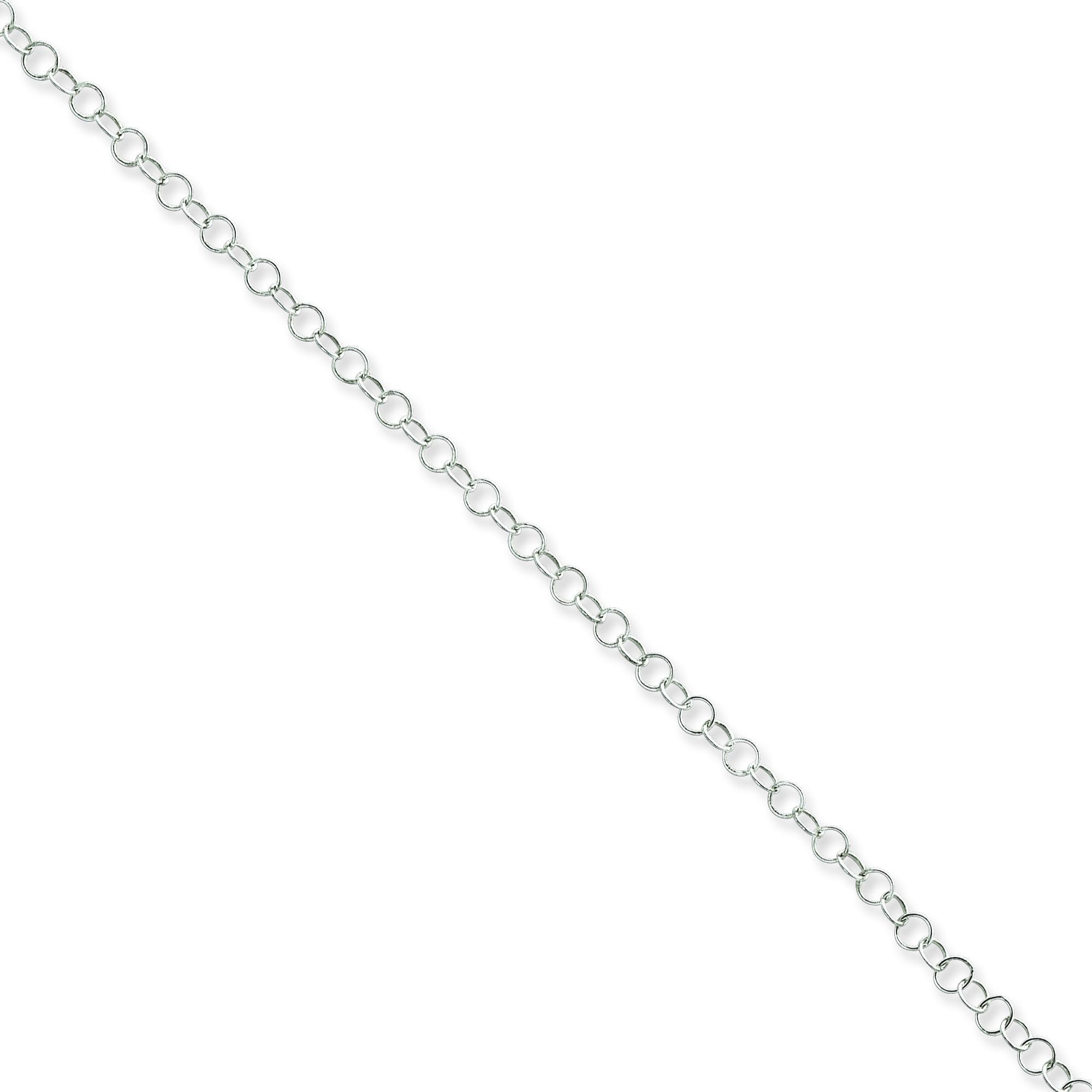 Sterling Silver 16 inch 3.40 mm  Rolo Choker Necklace