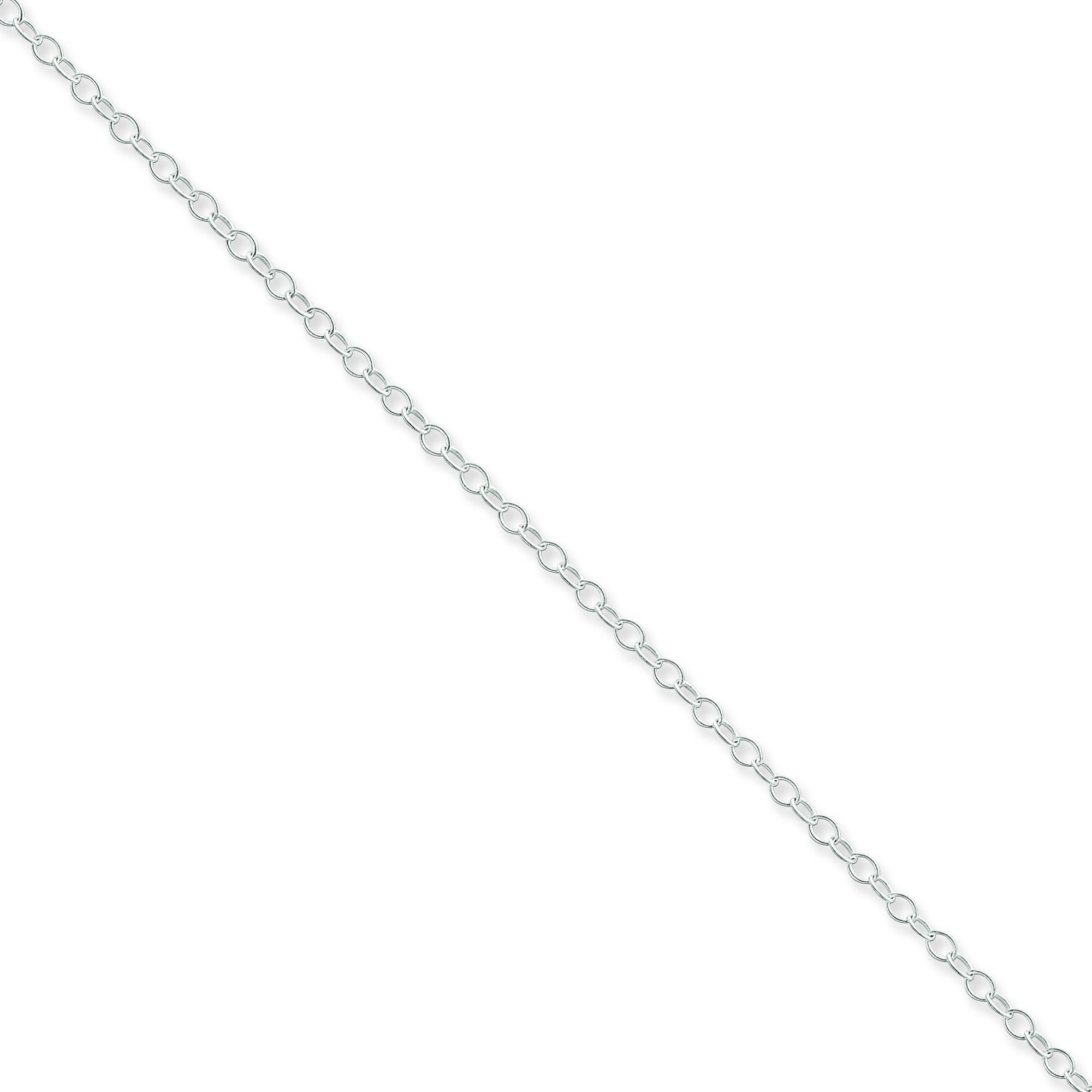 Sterling Silver 18 inch 2.25 mm Oval Cable Collar Necklace