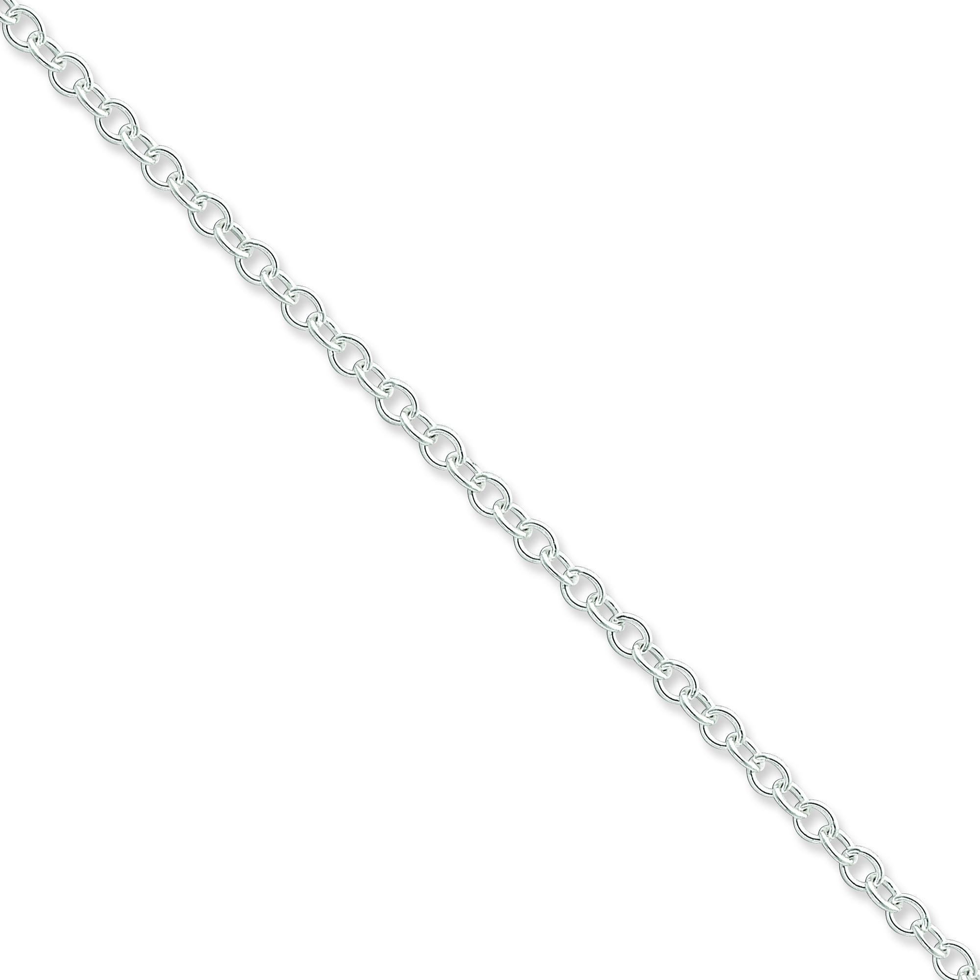 Sterling Silver 16 inch 3.75 mm Oval Cable Choker Necklace