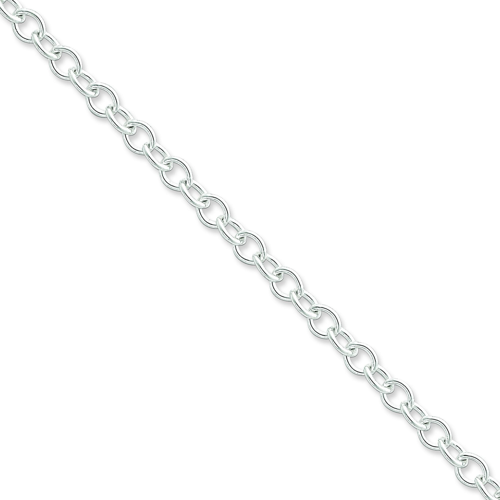 Sterling Silver 16 inch 5.75 mm Oval Cable Choker Necklace