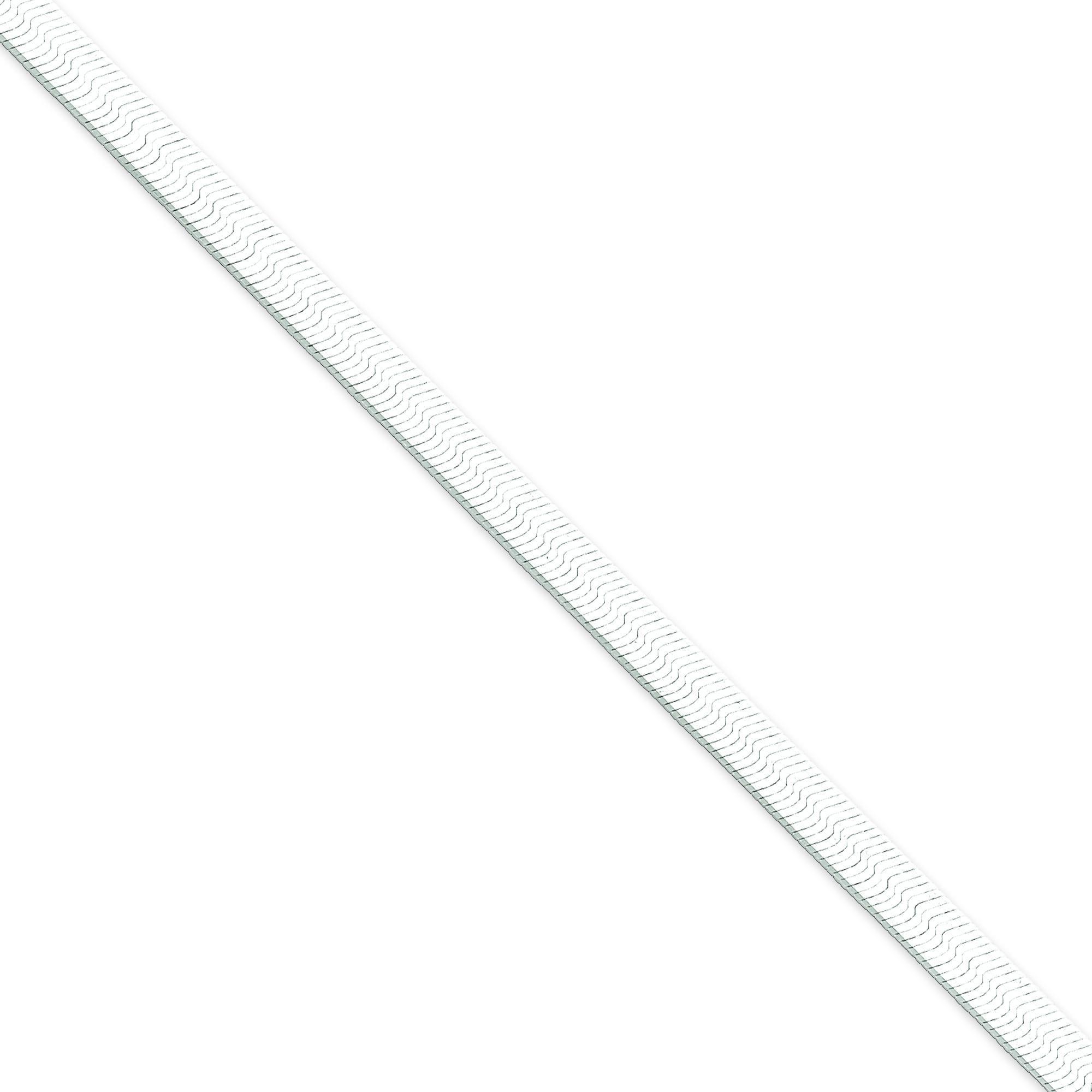 Sterling Silver 7 inch 5.25 mm Magic Herringbone Chain Bracelet