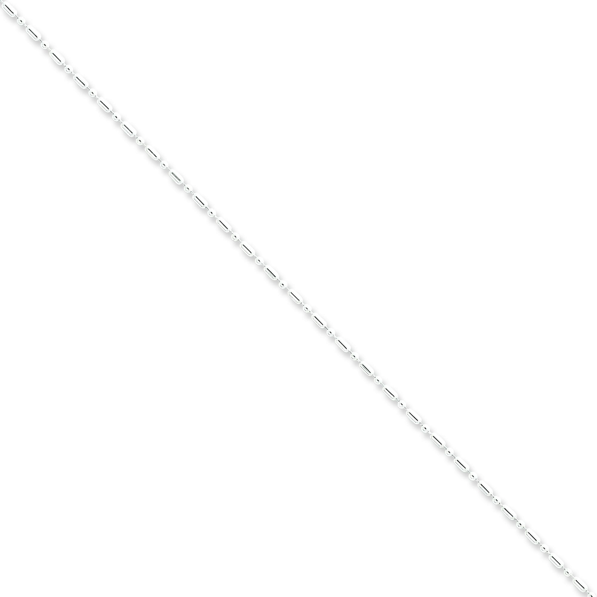 Sterling Silver 18 inch 1.50 mm Bead Collar Necklace