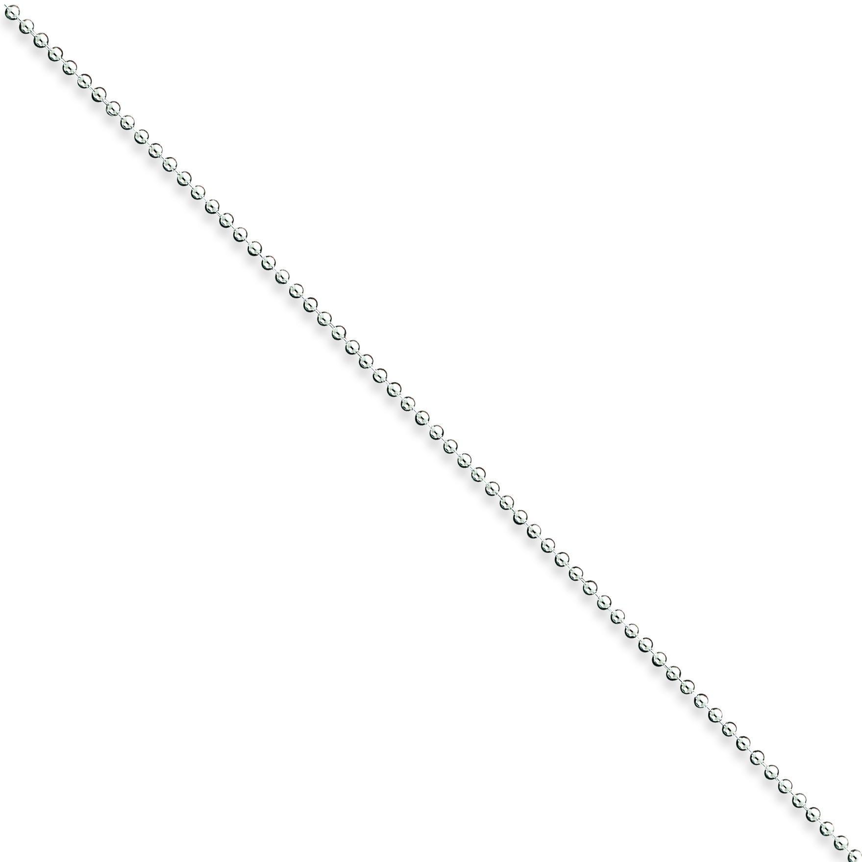 Sterling Silver 9 inch 1.50 mm  Bead Ankle Bracelet