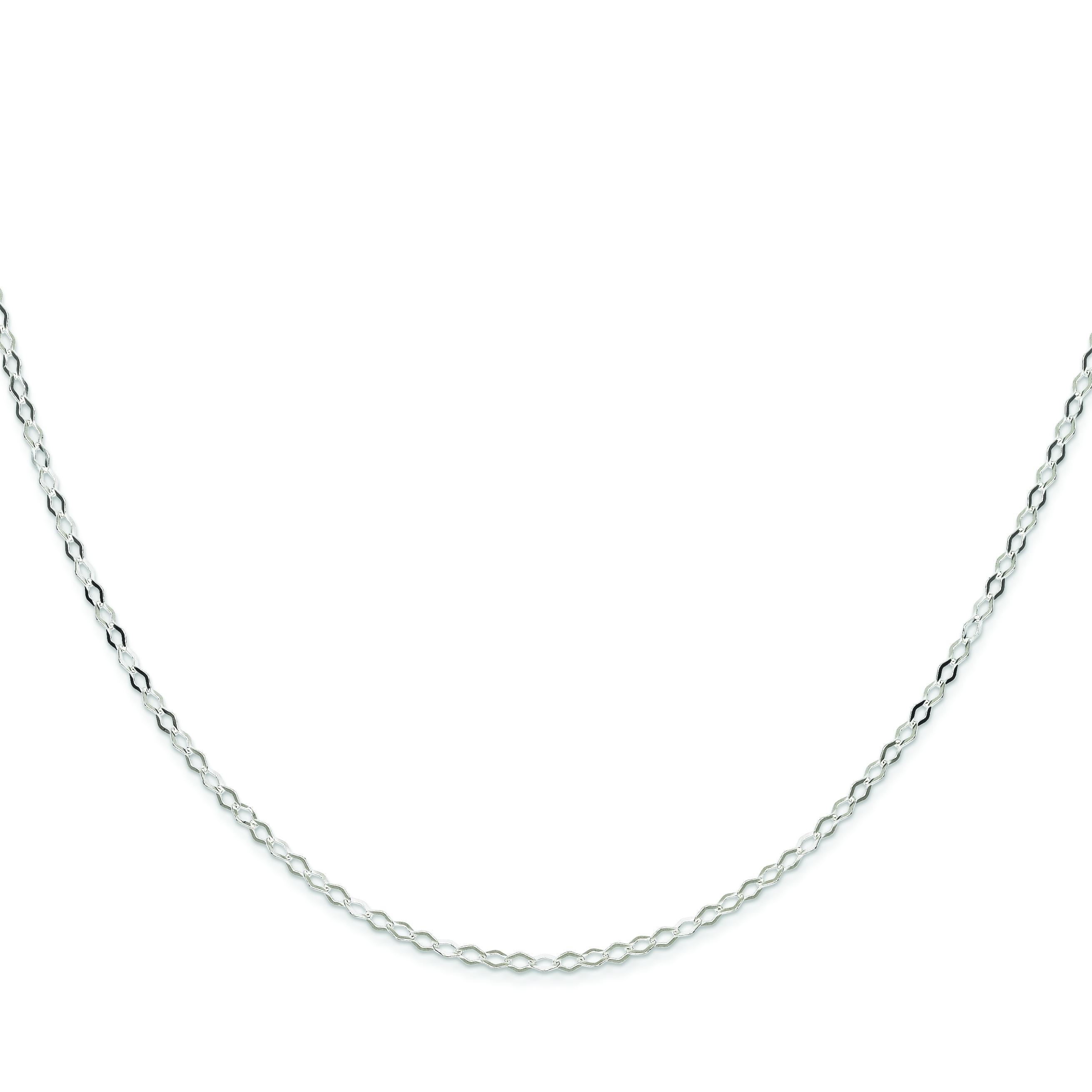 Sterling Silver 8 inch 2.25 mm Open Link Chain Bracelet