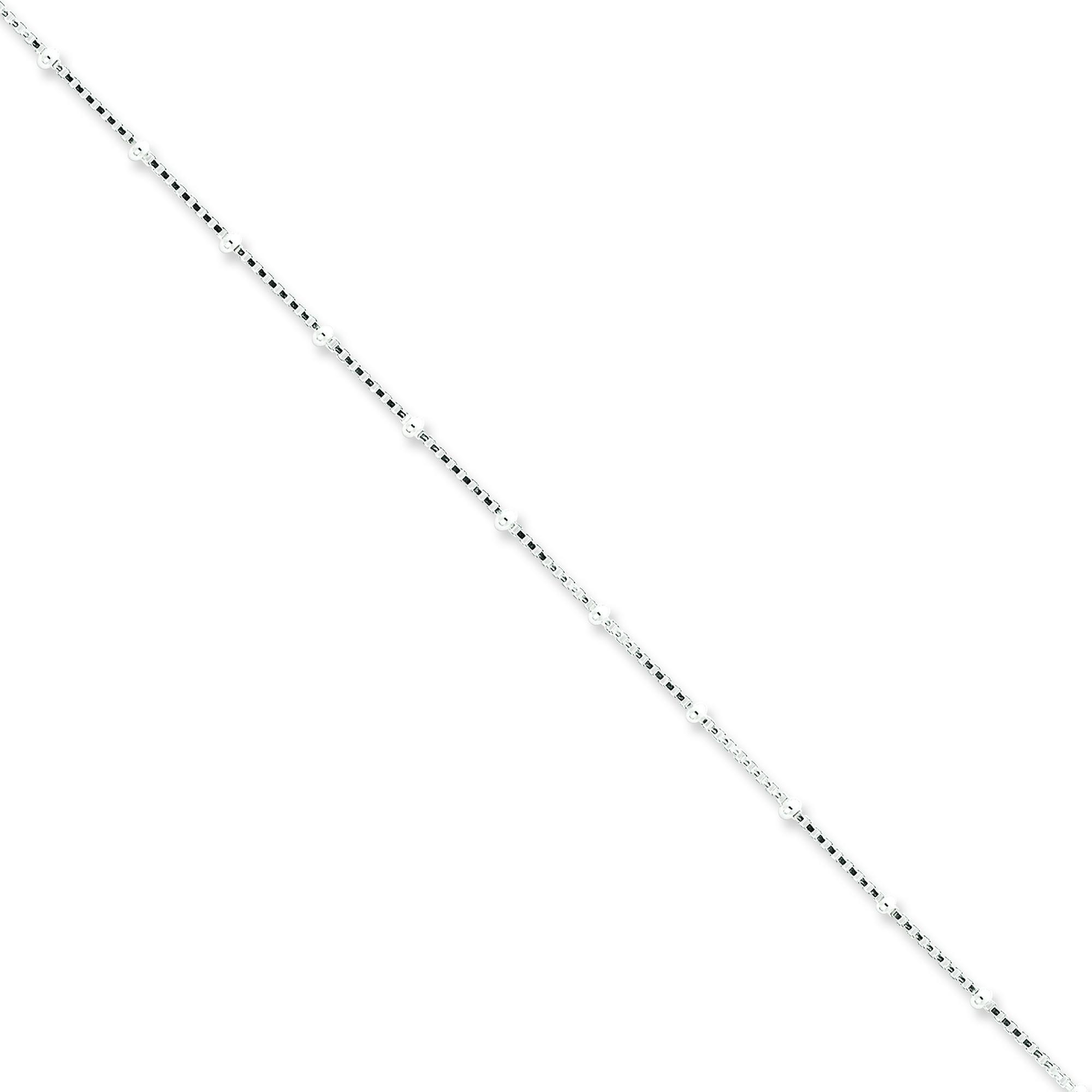 Sterling Silver 18 inch 1.25 mm Bead Collar Necklace