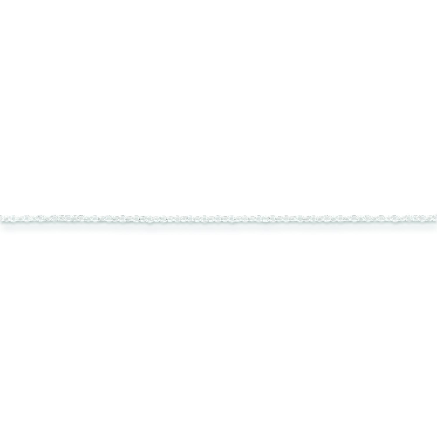 Sterling Silver 18 inch 0.80 mm Rolo Collar Necklace