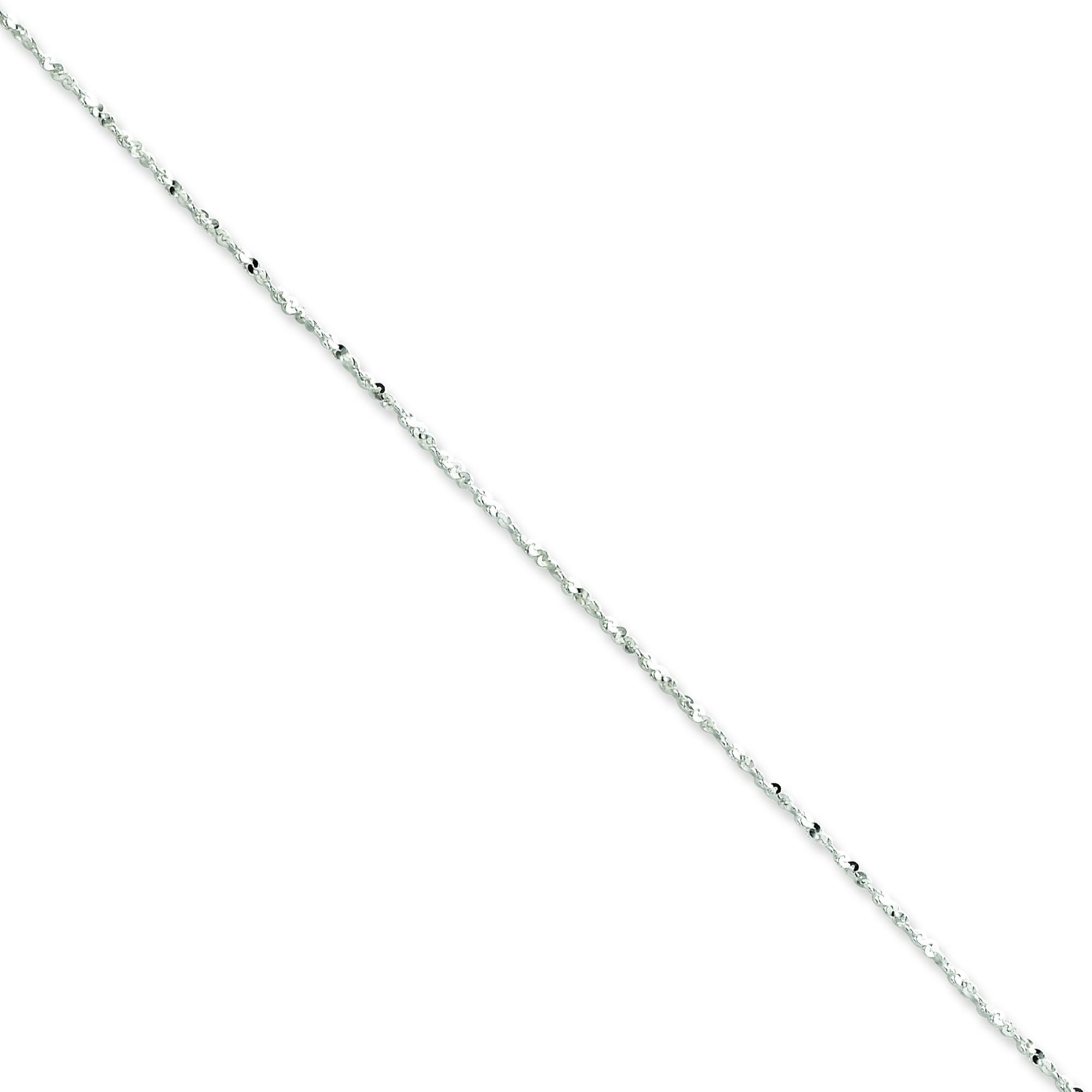 Sterling Silver 16 inch 1.20 mm Twisted Serpentine Fancy Choker Necklace