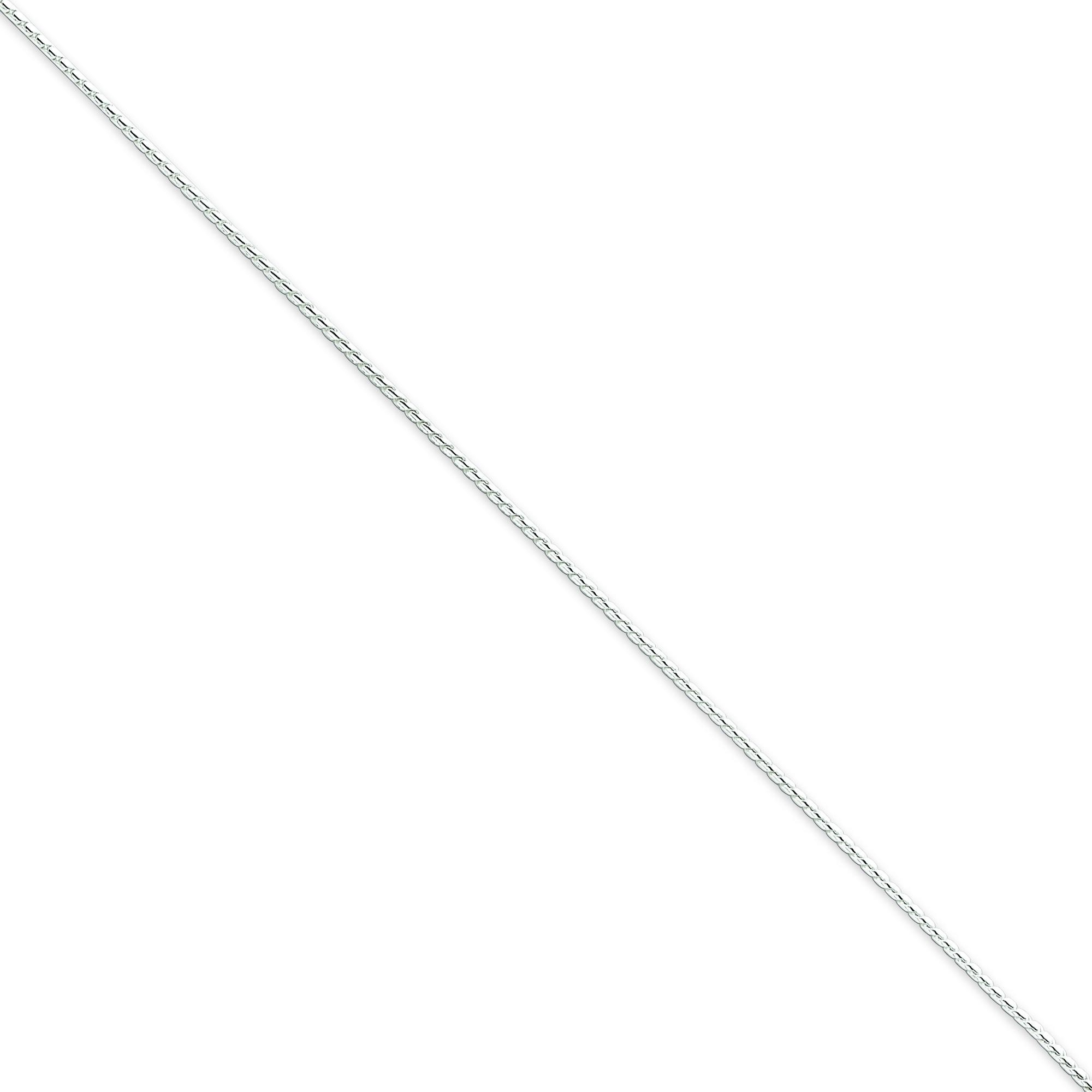 Sterling Silver 16 inch 1.00 mm Round Franco Choker Necklace
